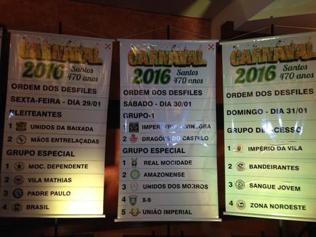 Ordem de desfiles do Carnaval 2016