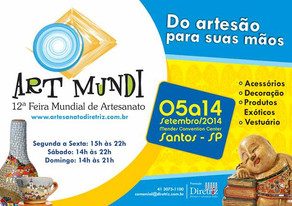 Art Mundi chega a Santos em setembro com novidades do artesanato nacional e internacional