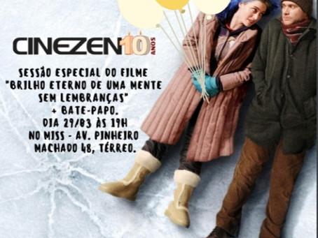 CineZen Cultural celebra 10 anos com sessão especial deBrilho Eterno de Uma Mente Sem Lembranças