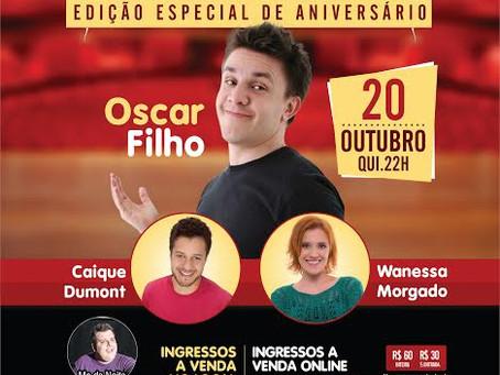 Oscar Filho se apresenta no aniversário do Humor de Cinema