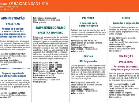 Agenda Sebrae Fevereiro 2015