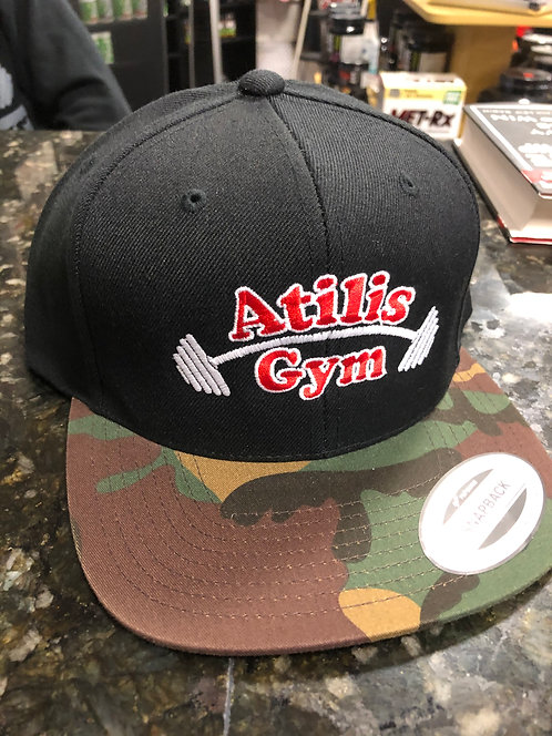 Black and Camo Brim Snapback