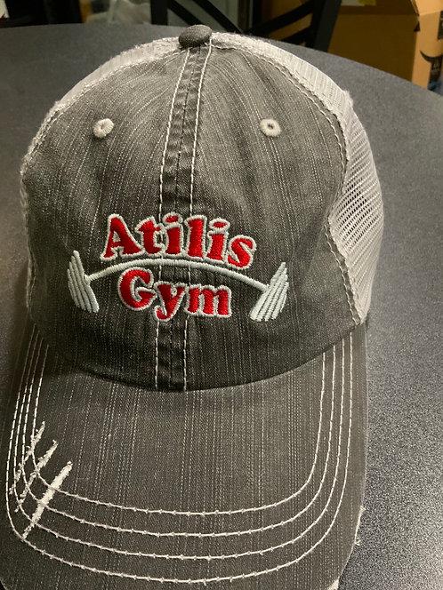 Grey Rough Trucker Hat