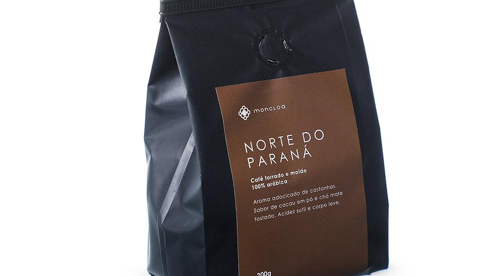 Café Norte do Paraná Arábica MOÍDO - Pouch 200g