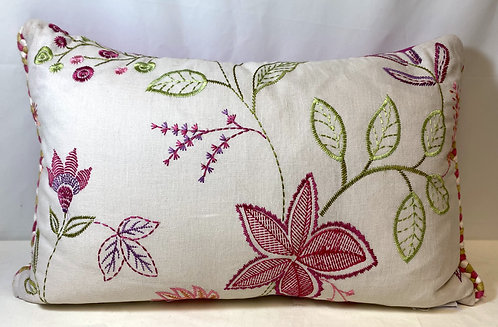 Voyage Maison Pink Flower Orchid Cushion
