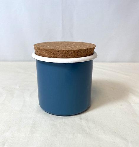 Blue Enamel Pot