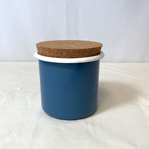 Blue Enamel Sugar Pot