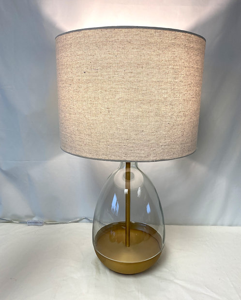 Glass Pear Drop Table Lamp