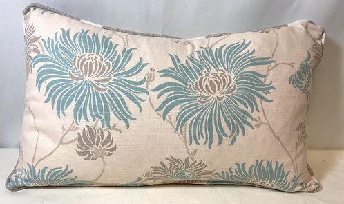 Grey Flower Cushion