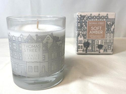 Thomas Street Soft Amber Glass Candle