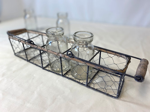 Wire Rack With Small Glass Jars