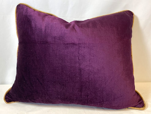 Purple & Gold Velvet Cushion