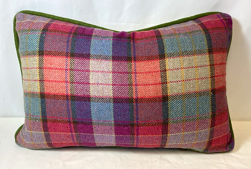 Pink Tartan Cushion