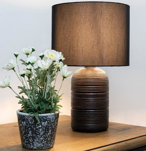 Polyresin Table Lamp with Shade