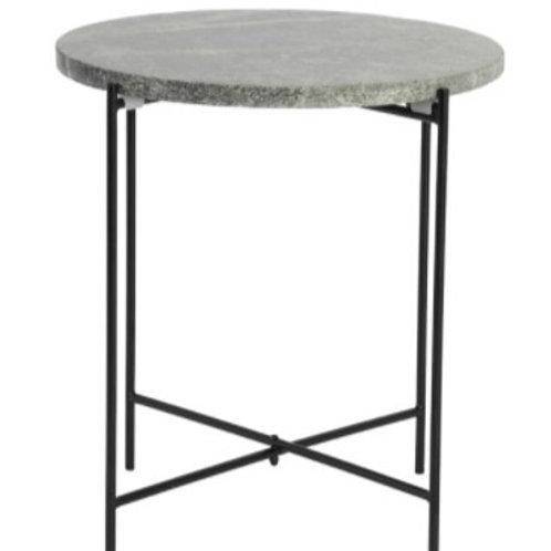 Dark Green Marble Side Table