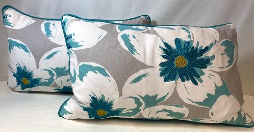 Turquoise Flower Cushion