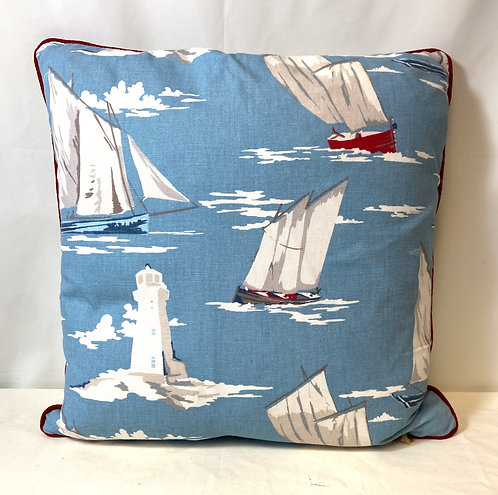 Boats & Lighthouse Cushion