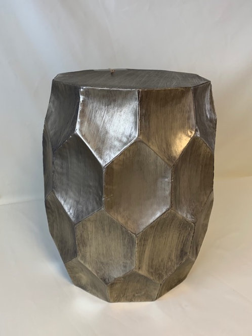 Antique Silver Kalan Side Table