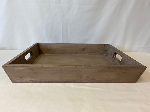 Wooden Edged Tray With Handles