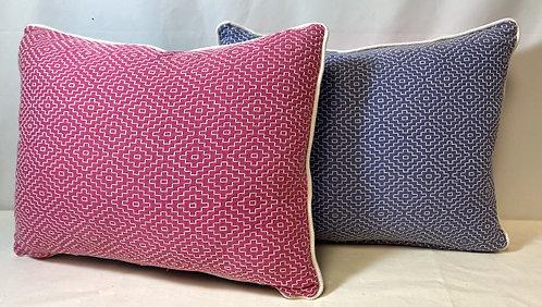 Small Pink & Blue Cushion