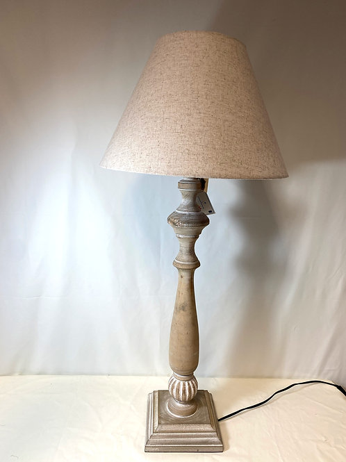 Wooden Based Engraved Table Lamp