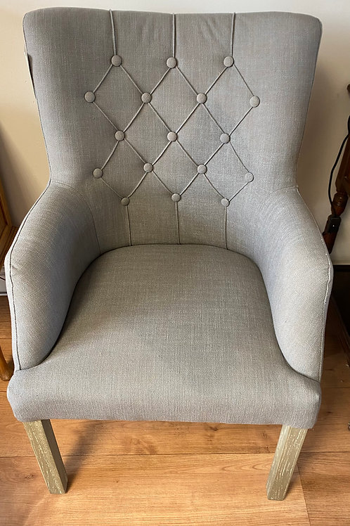 Grey Rounded Back Chair