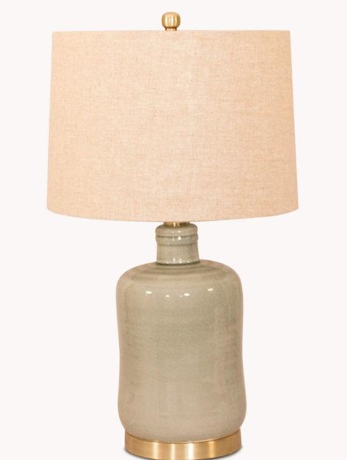 Glazed Ceramic Lamp & Shade