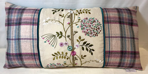 Voyage Maison Flower Tartan Cushion