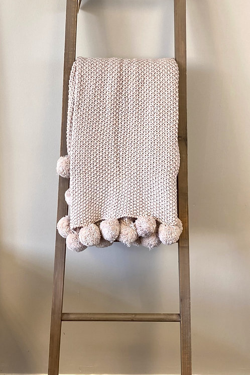 Light Pink Cosy Knitt Throw