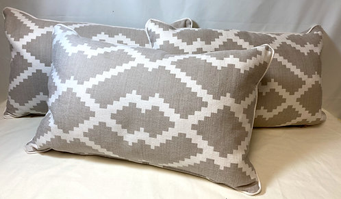 Taupe Patterned Cushion