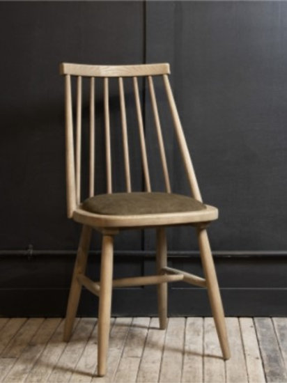 Mansfield Spindle Dining Chair With Velvet Seat