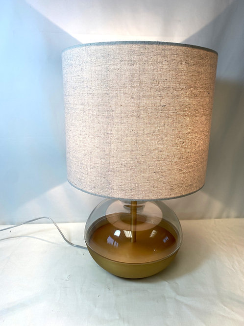 Rounded Glass Brass Bottomed Lamp