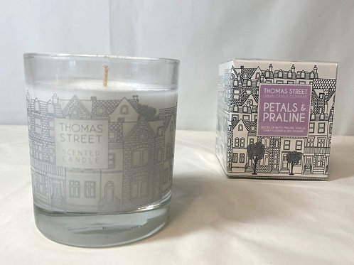 Thomas Street Petals & Praline Glass Candle