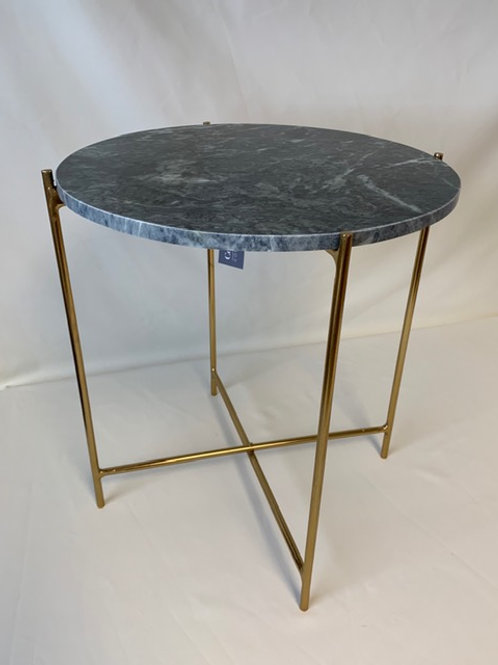 Large Green Marble Side Table