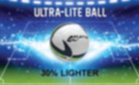 Ultra lite soccer ball