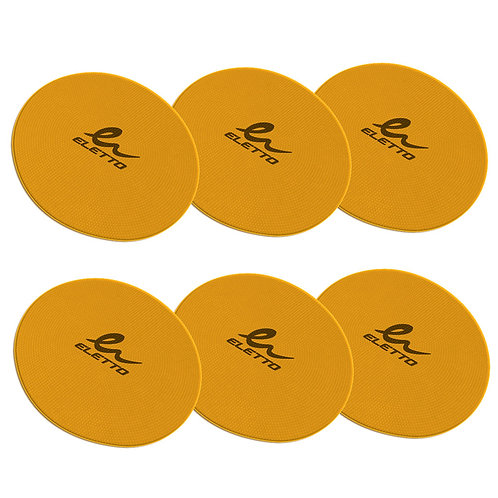 Flat Round Markers Gold (6)