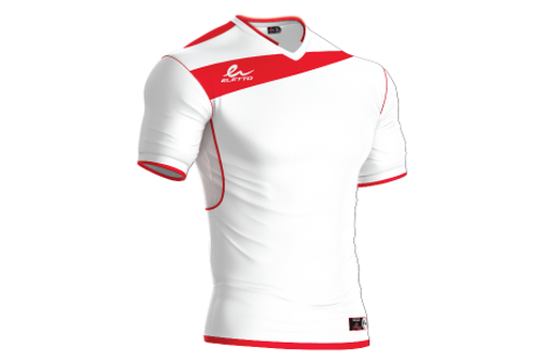 Maillot Leeds Blanc/Rouge