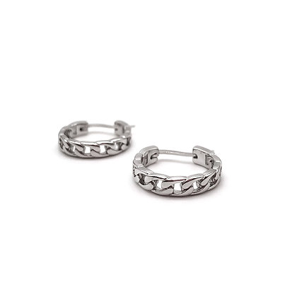 Off the chain silver hoops