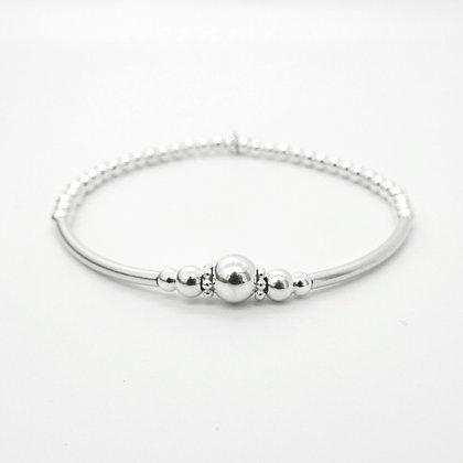 'Eyes on me' Sterling silver bracelet