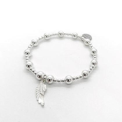 Sterling silver Angel wing bracelet