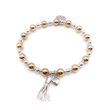Gold and Silver Tassel bracelet