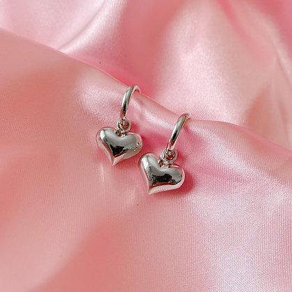 Be Bold heart hoop earrings