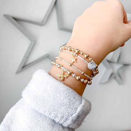 Golden Bee bracelet stack