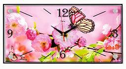 Настенные часы прямоугольной формы 19х39