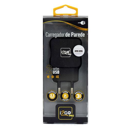 Carregador de tomada USB PRO - 2 entradas