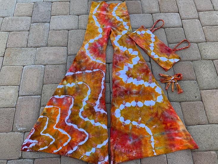 XS  Handmade FLARES & braided Tube topSet