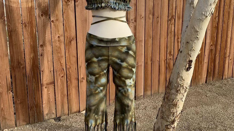 Large Handmade Fringed Bells & bikini top Set