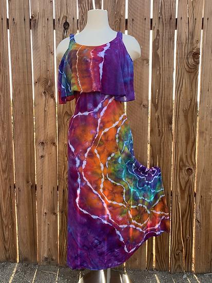 XS Flounce Top Maxi Dress