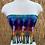 Thumbnail: XS-Medium Handmade fringed halter top