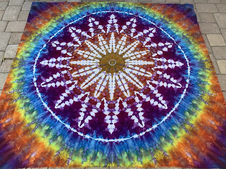 Psychedelic Kaleidoscope Tapestry